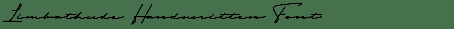 Limbathude Handwritten Font