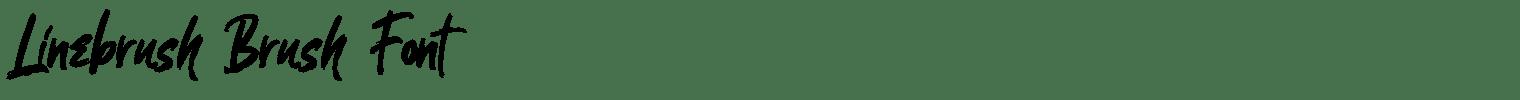 Linebrush Brush Font