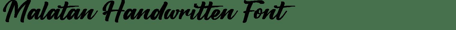 Malatan Handwritten Font
