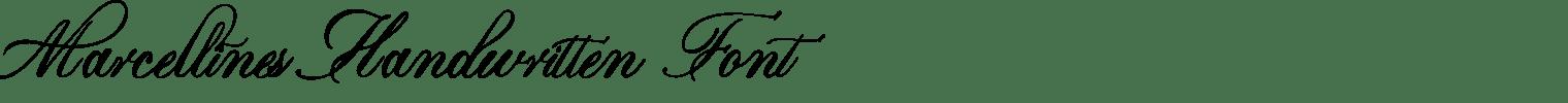 Marcellines Handwritten Font