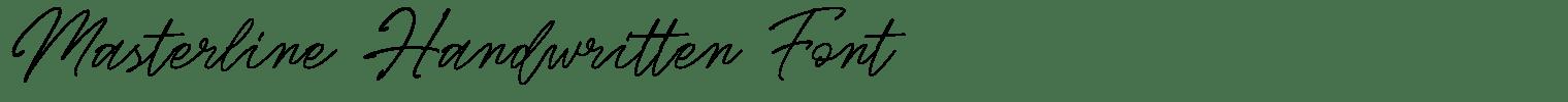 Masterline Handwritten Font