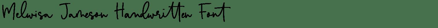 Melwisa Jameson Handwritten Font