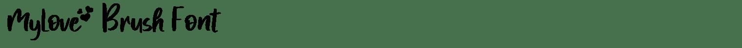MyLove Brush Font