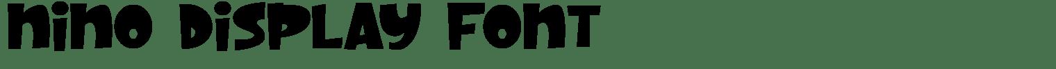 Nino Display Font