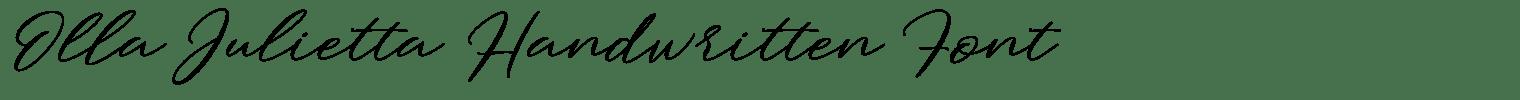Olla Julietta Handwritten Font