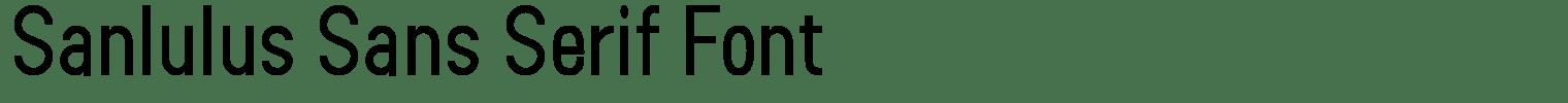 Sanlulus Sans Serif Font