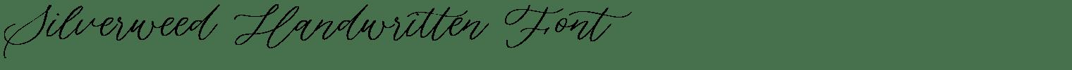 Silverweed Handwritten Font