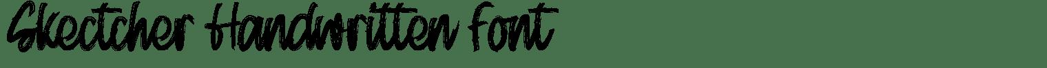 Skectcher Handwritten Font