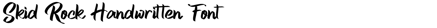 Skid Rock Handwritten Font