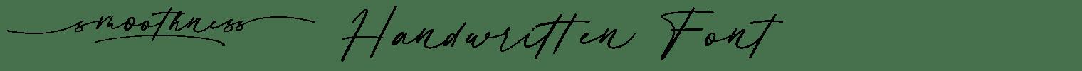 Smoothness Handwritten Font