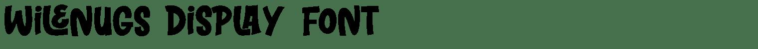 WILENUGS Display Font