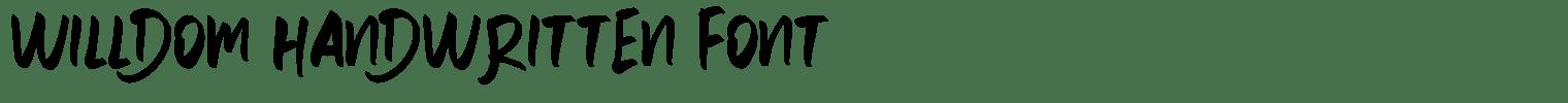 Willdom Handwritten Font