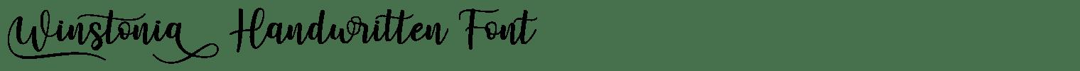 Winstonia Handwritten Font
