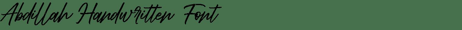 Abdillah Handwritten Font