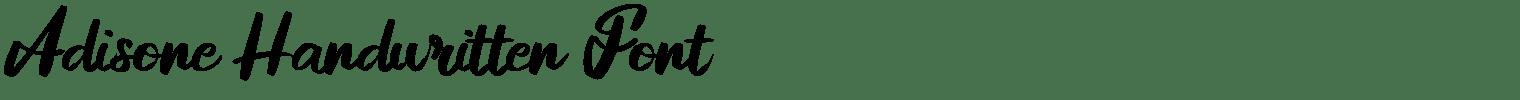 Adisone Handwritten Font