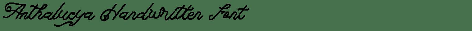 Anthalucya Handwritten Font
