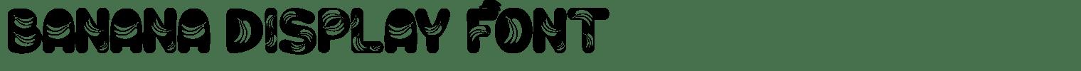 Banana Display Font