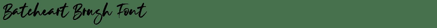 Batcheart Brush Font