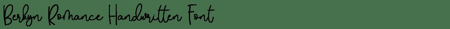 Berkyn Romance Handwritten Font