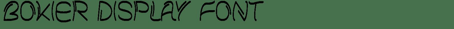 Bokier Display Font