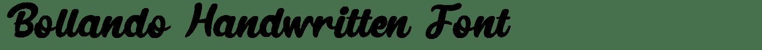 Bollando Handwritten Font