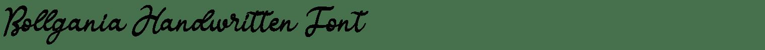 Bollgania Handwritten Font