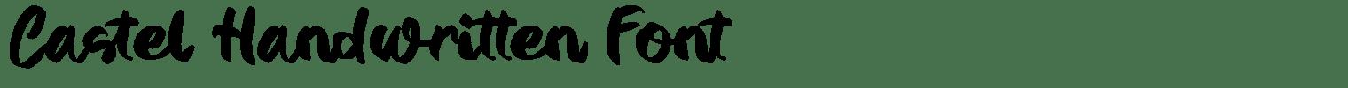 Castel Handwritten Font