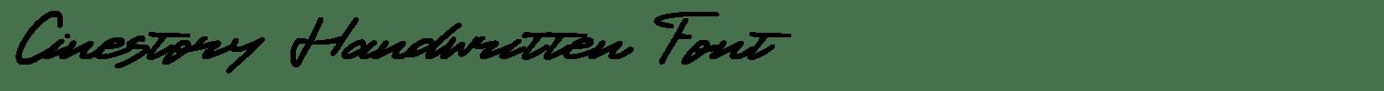 Cinestory Handwritten Font