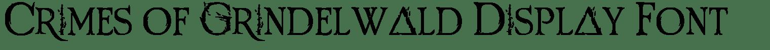 Crimes of Grindelwald Display Font