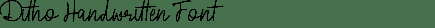 Ditho Handwritten Font