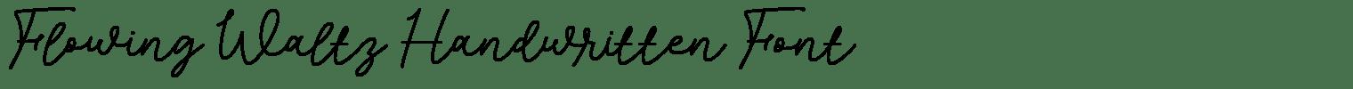 Flowing Waltz Handwritten Font