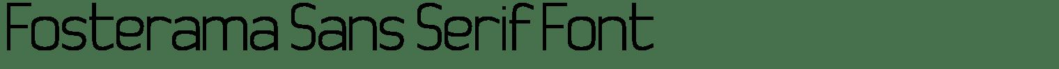 Fosterama Sans Serif Font