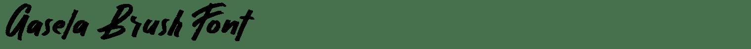 Gasela Brush Font