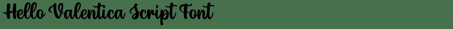 Hello Valentica Script Font