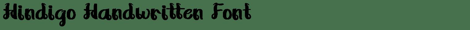 Hindigo Handwritten Font