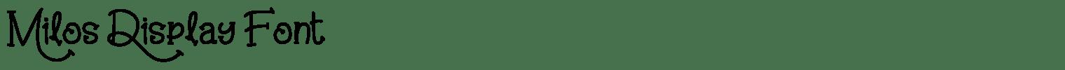 Milos Display Font