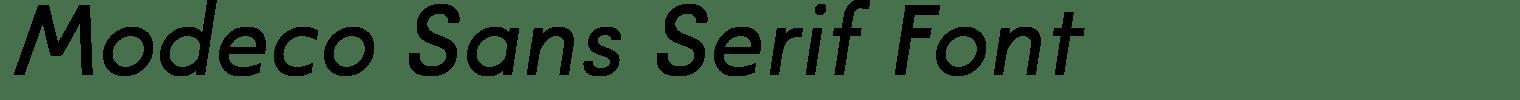 Modeco Sans Serif Font
