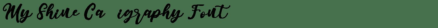 My Shine Calligraphy Font