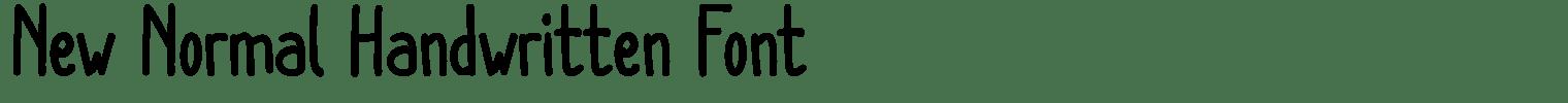 New Normal Handwritten Font
