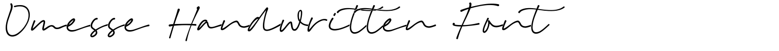 Omesse Handwritten Font