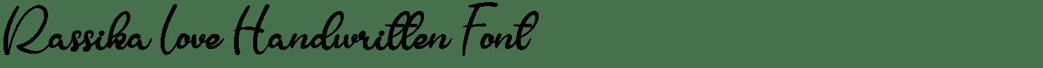 Rassika Love Handwritten Font