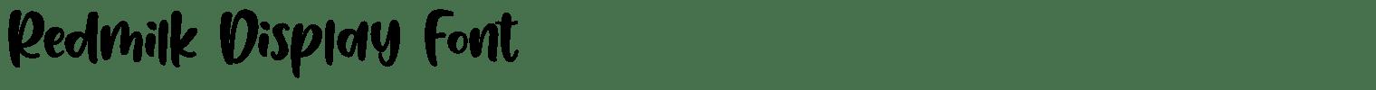 Redmilk Display Font