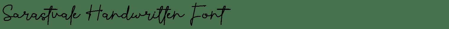 Sarastvale Handwritten Font