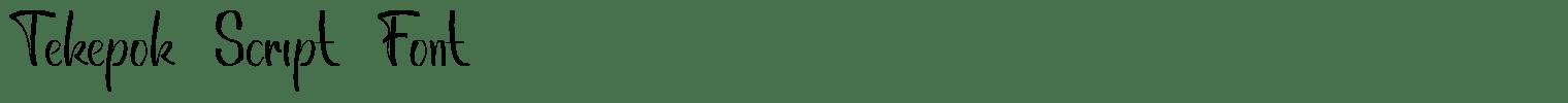 Tekepok Script Font
