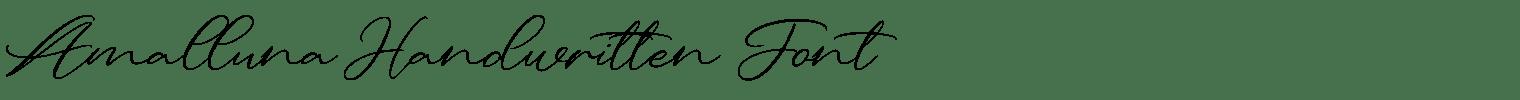 Amalluna Handwritten Font