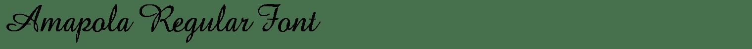 Amapola Regular Font