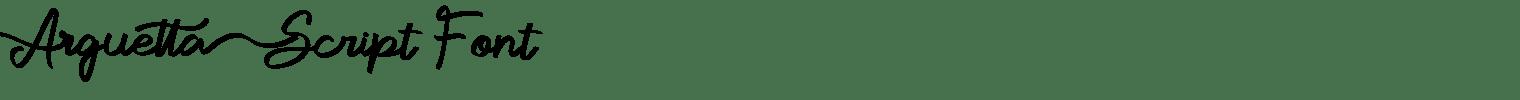 Arguetta Script Font