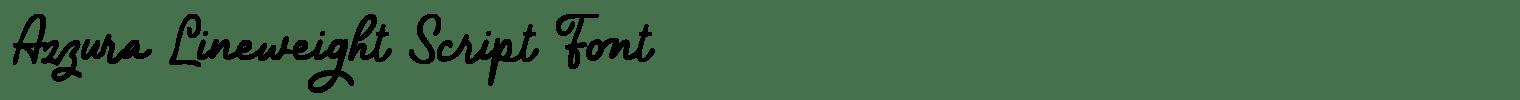 Azzura Lineweight Script Font
