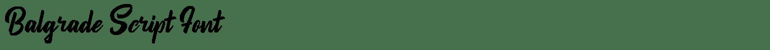Balgrade Script Font