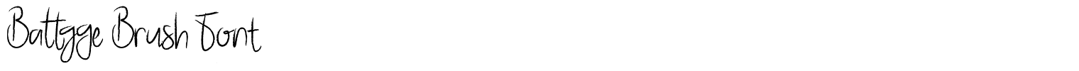 Battgge Brush Font
